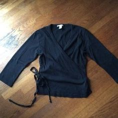 I just discovered this while shopping on Poshmark: Ballet-Inspired Wrap Top. Check it out! Price: $30 Size: M