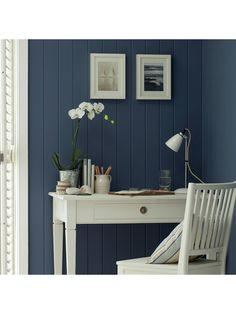 The Little Greene Paint Company Absolute Matt Emulsion Grey Blues Tester Pot, Juniper Ash (115)