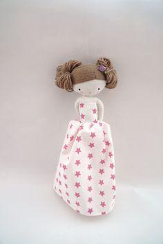 Rag doll handmade princess cloth doll with long dress and flower adorn
