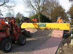 This is how they pave a road in Holland