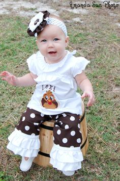 Girls personalized Thanksgiving outfit by designsbygrandma on Etsy
