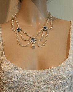 Pearl Necklace Vintage, Pearl Necklace Wedding, Bridal Necklace, Pearl Bracelet, Pearl Jewelry, Wedding Jewelry, Beaded Jewelry, Vintage Jewelry, Beaded Necklace