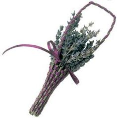 Lavender Wands, Now I have a new idea for my lavender when it is time to dry it.