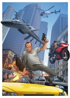 Grand Theft Auto V by *PatrickBrown on deviantART