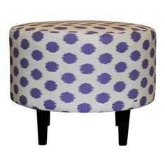 Purple Polka Dot Ottoman.