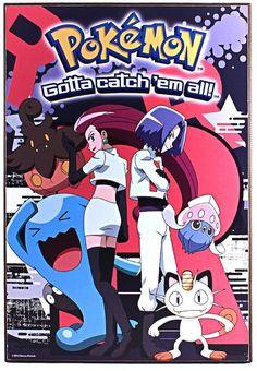 Pokemon Gotta Catch 'em All Team Rocket Wood Wall Art