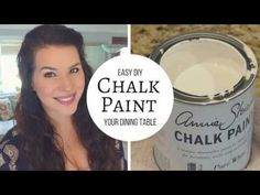DIY Chalk Paint and Distress A Table Tutorial - YouTube