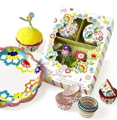 Bring some whimsy to your desserts with a Pier 1 Floral Cupcake Kit