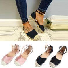 4186eb246eb Studded Ankle Strap Espadrilles 2 Colors - Savage Garb 2 Colours