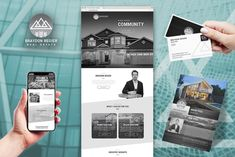We created this brand, business cards, sell sheets and responsive website for Braydon, to make sure he stands out above the crowded realtor space. #logo #branding #marketing #webdesign #calgary #canada