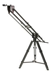 "Kessler Pocket Jib  The Kessler Pocket Jib™ is the ultimate compact, portable jib. Not only is this jib fully collapsible for easy transport, but you can also mount the Kessler Pocket Dolly™ or CineSlider™ to it, turning it into a virtual ""all-in-one"" production tool, offering both a jib and mini-dolly in one unit."
