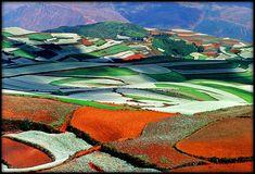 Dongchuan colored hills - Yunnan region CHINA - http://www.zuzafun.com/colored-hills-of-yunnan