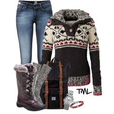 Winter Mountain Time, created by tmlstyle on Polyvore