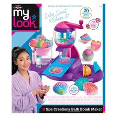 The Cra-Z-Art My Look spa creations ultimate bath bomb Maker! color it, scent it, shape it! mix, mold and make 20 super-cute bath fizzies! add in fun toy surprise! Learning Toys For Toddlers, Kids Toys, Crafts For Girls, Toys For Girls, Bath Bomb Maker, Princess Toys, Fantasias Halloween, Kids Makeup, Baby Girl Toys