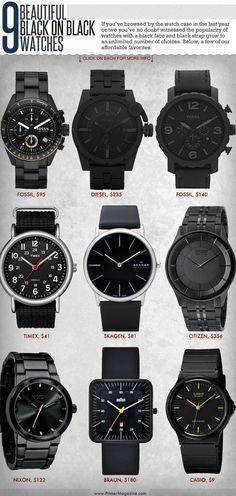 black on black watches | juwelier-haeger.de