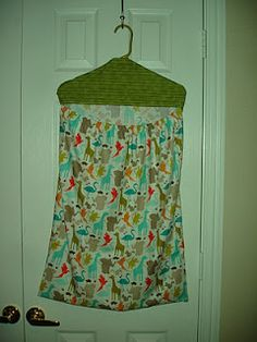 Hanging laundry bag-I think I would add some velcro to the center right under the hanger so it wouldn't look so open