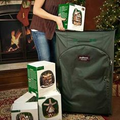 Photo: Courtesy of Christmas Tree Storage Bag | thisoldhouse.com | from 12 Smart Ways to Store Holiday Decorations
