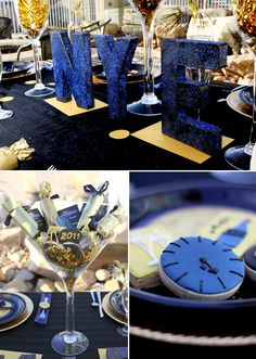 Midnight Blue + Gold New Years Eve Party