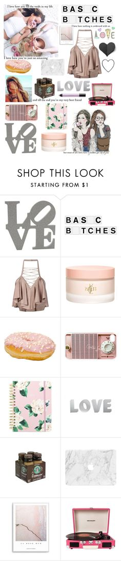 """""""Love"""" by sophielinx ❤ liked on Polyvore featuring GE, Balmain, Yves Saint Laurent, Samsung, ban.do, Crosley and shu uemura"""