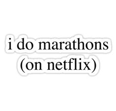 """""""I Do Marathons... Hipster/Trendy/Tumblr Meme"""" Stickers by Vrai Chic 
