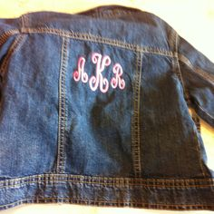 Monogrammed little girls jean jacket