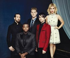Pentatonix photographed at Clive Davis' annual pre-Grammy gala on Feb. 7 at the Beverly Hilton in Los Angeles.