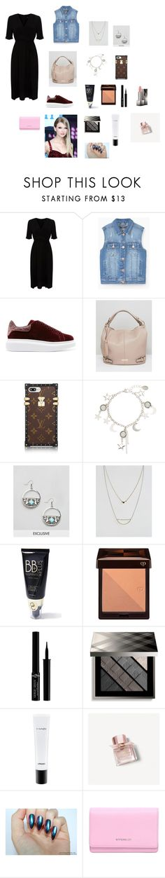 """""""🌹👌"""" by aiea ❤ liked on Polyvore featuring Alexander McQueen, Dune, Reclaimed Vintage, ASOS, Gerard Cosmetics, Clé de Peau Beauté, Giorgio Armani, Burberry, MAC Cosmetics and Givenchy"""