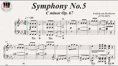 Symphony No.5 C minor Op. 67 - Ludwig van Beethoven, Piano - YouTube