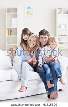 stock photo : A young family at home