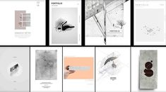 Architecture Portfolio Guide - A step by step guide to creating and presenting an architecture portfolio, discussing portfolio layouts, sizes, templates, cover pages and examples Architecture Portfolio Examples, Architecture Design, Architecture Panel, Concept Architecture, Landscape Architecture, Portfolio Covers, Portfolio Design, Portfolio Layout, Fashion Portfolio