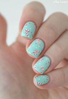 ▲▼▲ Coco's nails ▲▼▲: Christmas #2 - Candy canes