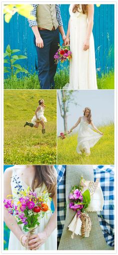 LOVE! I especially love how carefree the bride looks in the middle photos...so awesome!!!