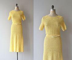 Femminello knit dress | vintage 1930s knit dress | crochet 30s dress