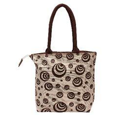 Utsav Kraft Off White Brown Designer Jute Bag Indian Crafts Bags Handicraft