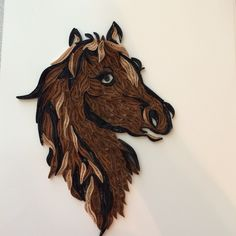 Quilled horse- I normally don't like quilling but this is beautiful