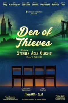 Stephen Adly Guirgis' DEN OF THIEVES Opens 5/8 at The Stella Adler