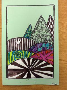 WHAT'S HAPPENING IN THE ART ROOM??: 3rd Grade zentangles