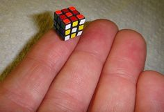 The smallest cube is 10mm wide and was made by Russian Evgeniy Grigoriev. | 40 Facts You Probably Didn't Know About Rubik's Cube