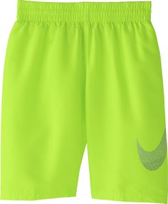 074bf3254c082 Nike Boys' Mash Up Solid 8†Volley Swim Trunks, Volt Glow Nike Swim