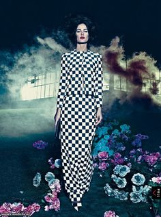 Carolyn Murphy by Steven Klein for Vogue US 'Hothouse Flowers' Editorial - January 2013