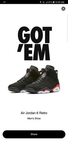 ff93d6ce83128a Jordan Retro 6 Size 11 Black Crimson  fashion  clothing  shoes  accessories