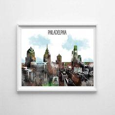 Philadelphia Philadelphia printable Philadelphia skyline
