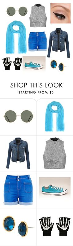 """""""Underswap Sans Inspired Outfit"""" by sailorblaze ❤ liked on Polyvore featuring Forever 21, Jardin des Orangers, LORAC, LE3NO, Topshop, New Look and Diane Von Furstenberg"""
