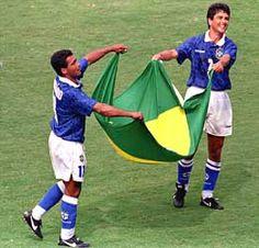 Bebeto e Romário, Campeões do Mundo em 1994.