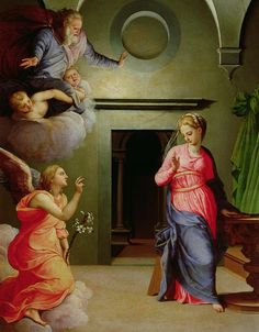 Mannerist Painting - The Annunciation by Agnolo Bronzino