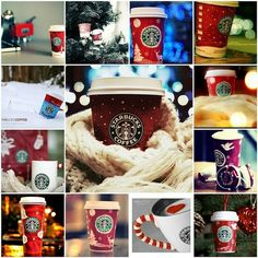 starbucks christmas The greatest treat this time of year.glad I don't live within walking distance of a Starbucks! Starbucks Coffee, Starbucks Christmas Cups, Christmas Drinks, Little Christmas, Christmas Time, Christmas Coffee, Merry Christmas, Starbucks Drinks, White Christmas