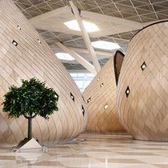 Autoban designs Heydar Aliyev International Airport terminal in Baku, repinned by rheingruen.blogspot.de
