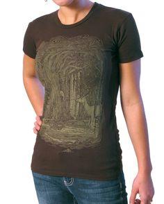 Tangled Forest T-shirt on Espresso Brown ..... Women's Tee Shirt S M L XL 2XL