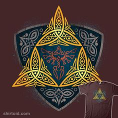 Insignia of a Hero #celticknot #gaming #johnnygreek989 #thelegendofzelda #triforce #videogame