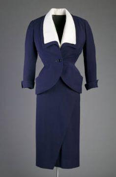 Ensemble, Christian Dior, 1951, French, wool crepe